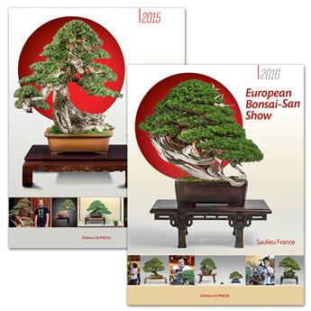 Lot catalogues European Bonsai-San Show 2016 et 2015
